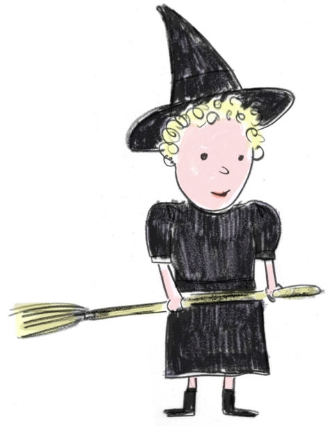 Lola as a witch