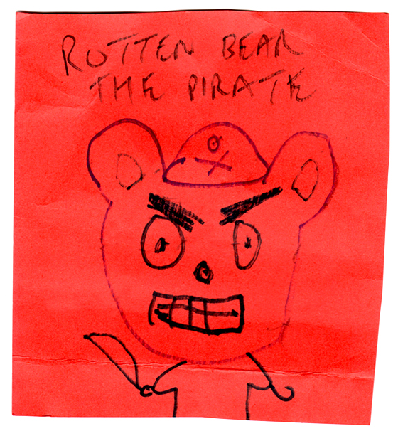 the mangy pirate After all, says her father the captain, a good pirate must be rotten,  when the rest of the crew is captured by captain fishmonger's mangy pirate cats,.